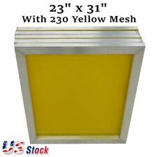 6pcs 23 X 31 Aluminum Silk Screen Frame Printing Screens 230 Yellow Mesh Count
