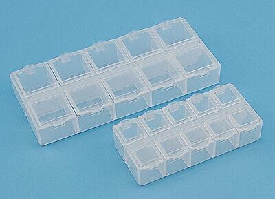 Klar Perlenbox Fächerboxen Transparent Boxen Aufbewahrungsdosen Sortierbox Neu