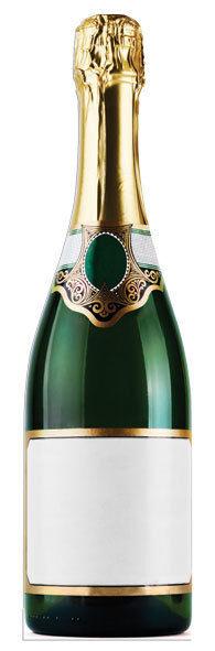 Riesiges Flasche mit Champagner Pappfigur Aufsteller Aufstell Prominent Party | Qualität zuerst  | Modisch