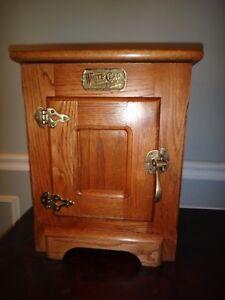 Image Is Loading Vintage White Clad Antique Oak Ice Box Countertop