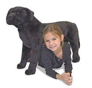 NEW! Melissa and Doug Large Black Lab Plush Stuffed Animal Toy Dog Labrador
