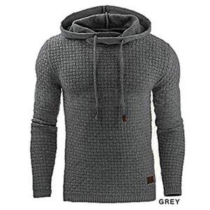 Mens-Fashion-Winter-Hoodie-Warm-Hooded-Sweatshirt-Sweater-Coat-Jacket-Outwear-L