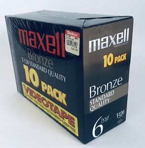 Maxell T-120 Bronze 10 Pack Blank Video Cassettes VHS Tape 6 Hour FAST FREE SHIP