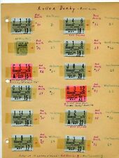 1955 Roller Derby ticket stubs Red Devils vs Westerners Ice Arena Albuquerque NM