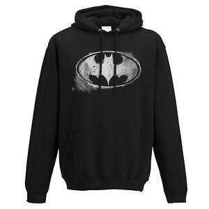 Official-Batman-Logo-Hoodie-Pullover-Hooded-Mono-Distressed-DC-Comics-S-M-L-XL