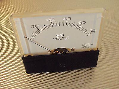 "AC. Panel METER 0 - 10v Volt  4"" X 3 1/2"" NEW For CB Radio Ham Amp Amplifier"