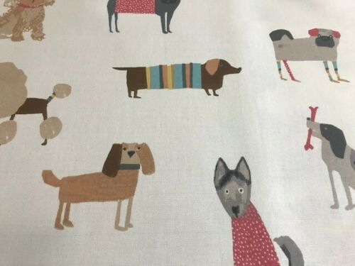 PRESTIGIOUS TEXTILES WOOF DOG 100/% COTTON FABRIC CURTAIN CRAFT