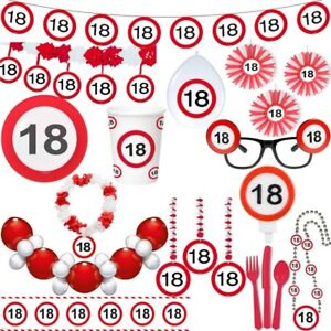18 Geburtstag Verkehrsschilder Party Deko Zahl Volljahrig
