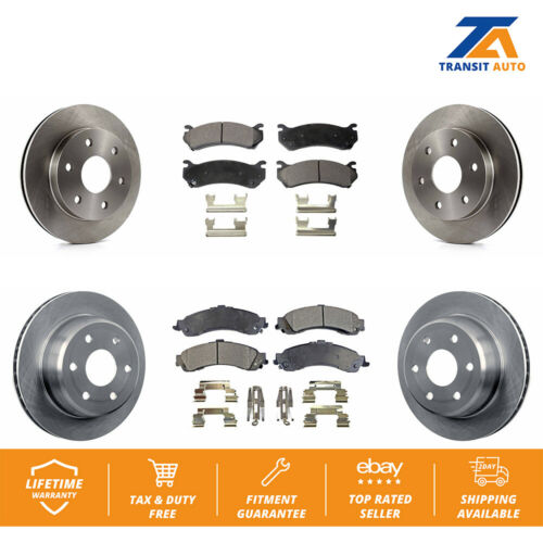 Front Rear Disc Rotors /& Ceramic Brake Pads Fits Chevrolet Silverado 1500 Gmc