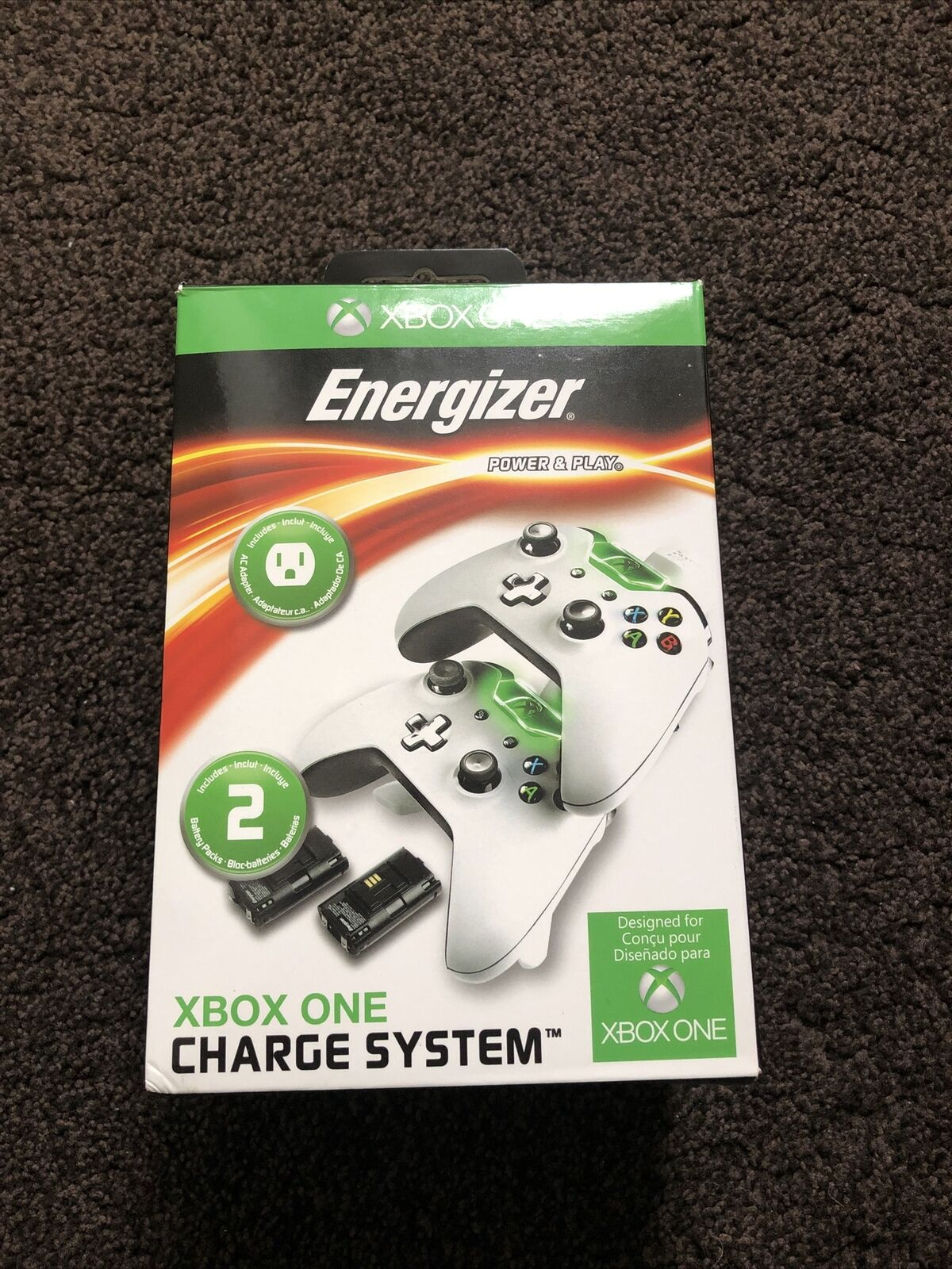 Xbox One Energizer Charging Dock and Batteries (read description)