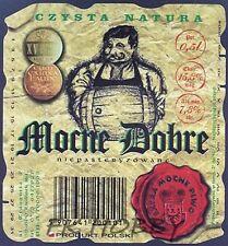 Poland Brewery Lwówek Śląski Mocne Dobre Beer Label Bieretikett Cerveza ls134.6