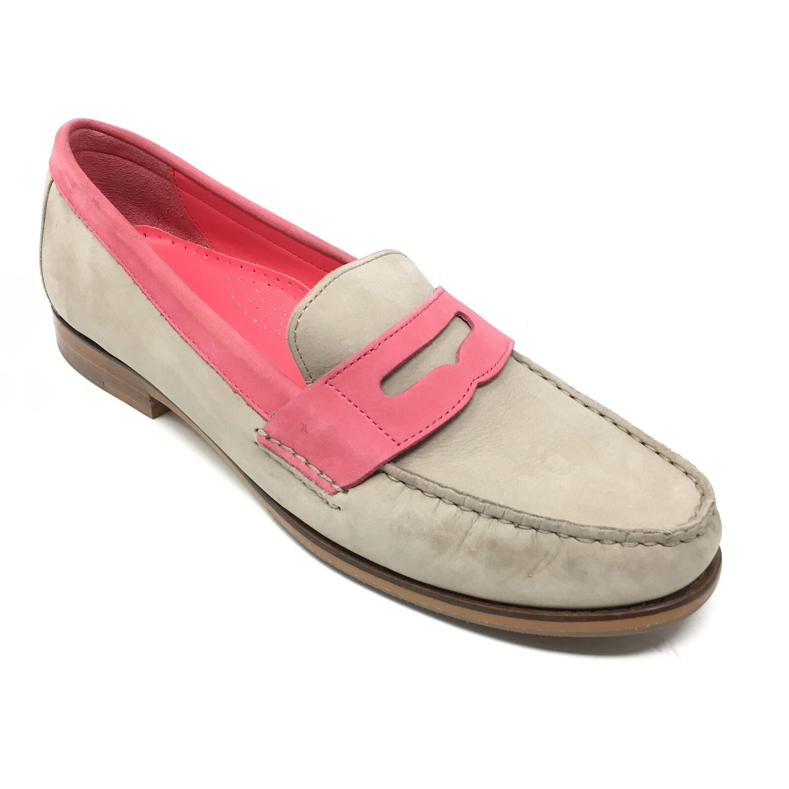 Women's Cole Haan Alexa Penny Loafers shoes Size 8.5B Tan Pink Leather Career A1