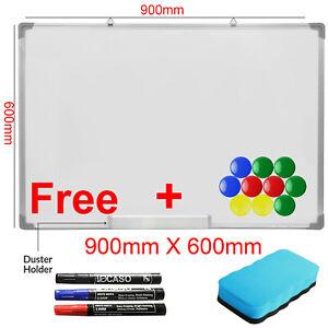Dry-Wipe-Magnetic-90X60CM-Whiteboard-White-Notice-Memo-Board-School-Office-Home