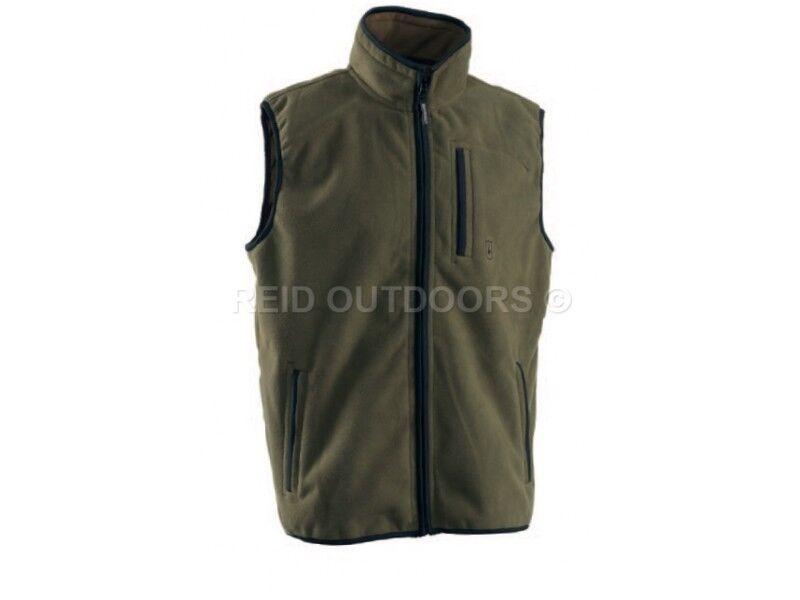 Deerhunter New Game Fleece Waistcoat (Deep Green) Sizes  XL, 2XL, 3XL .Shooting