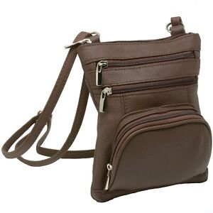 Leather-Shoulder-Bag-Handbag-Purse-Cross-Body-Organizer-Wallet-Multi-Pockets-New