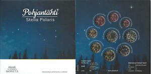 """1x Coffret BU (9 pièces) série Finlande 2020 """"Étoile Polaire"""" (neuf)"""