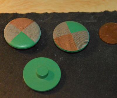 Obediente Botón De Madera Botones 2,3cm 23mm 5 Unidad Verde Nuevo