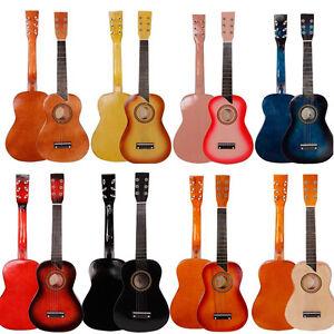 new 25 beginners kids acoustic guitar 6 string w pick children student gift ebay. Black Bedroom Furniture Sets. Home Design Ideas