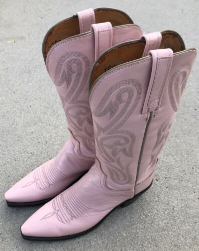 LUCCHESE Womens Pink Cowboy Boots Size 6 *Nice*