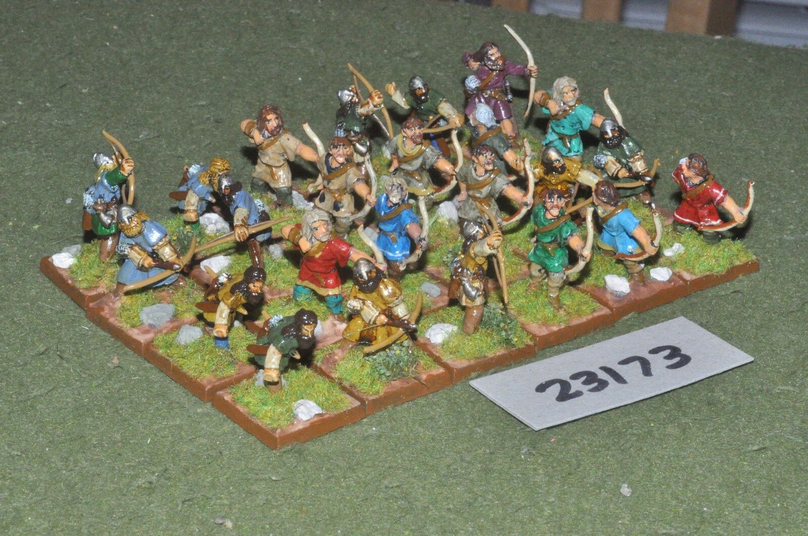 25mm dark ages   anglo-saxon - archers 24 figures - inf (23173)