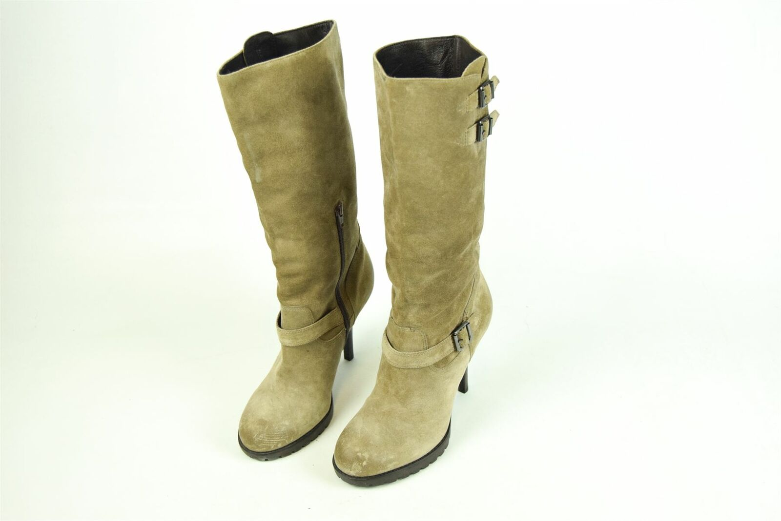 ASH Taupe Suede Heeled Boots, UK 6 US 9 EU 39 HEEL 4.25