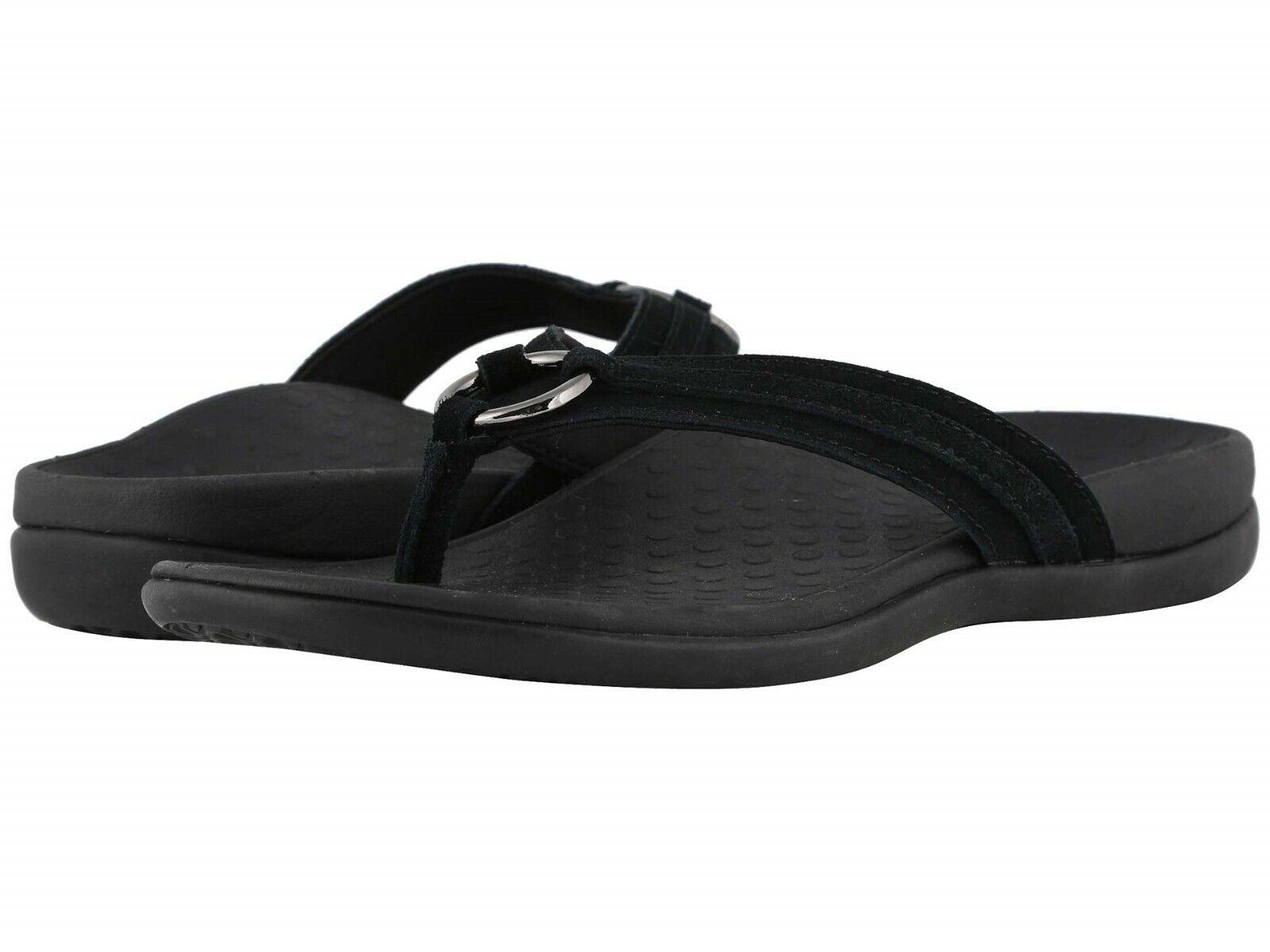 NEW WOMEN 2019 VIONIC TIDE ALOE BLACK FASHION SANDALS SLIP ON COMFORT ORIGINAL