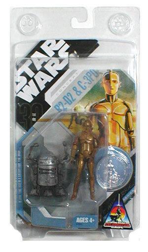Star Wars MCQUARRIE CONCEPT R2D2 & C3PO Exclusive droids droids droids figure set VERY RARE f0b5ad