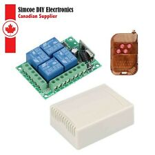 4ch Relay Receiver Module And Rf Transmitter 433 Mhz Remote Controls 1663
