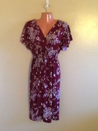 Women/'s Plus Size  Surplice  Flutter Sleeves Floral Print Dress 1X 2X 3X