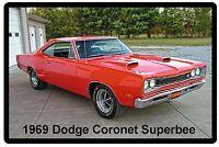 1969 Dodge Coronet Superbee Refrigerator / Tool Box Magnet