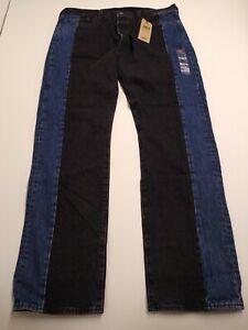 Levi's Mens Jeans Black Blue 38X34 Two-Tone 501 Original ...