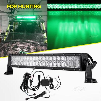 "GREEN 22/"" inch LED LIGHT BAR Work Hunting ATV for Jeep Off-road RGB Strobe Light"