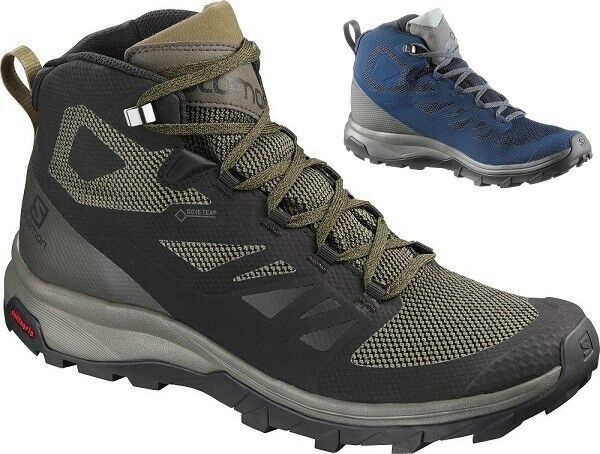 SALOMON Outline Mid Gore-Tex Outdoor Hiking Trekking Athletic Schuhes Stiefel  Herren