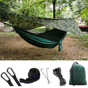 Outdoor Camping Mosquito Net Hammock Tent Chair Nylon Hanging Bed Swing Beach