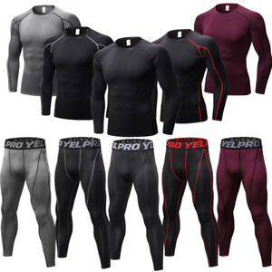 Men-039-s-Compression-Athletic-Skin-Base-Layers-Gym-Fitness-Running-Cycling-Tights