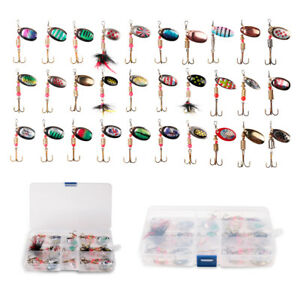 Metal-Spinner-Fish-Bait-Set-Spinnerbait-Spoon-Twist-Lure-Perch-Bass-Pike-Trout