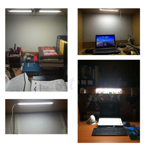 USB 5V Adjustable 30 LED Light Tube Hard Strip Day Cool White Lamp On//Off Switch