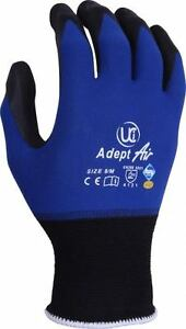 UCI-Adept-AIR-Max-Comfort-Nylon-Lycra-Work-Gloves-Lightweight-NFT-Palm