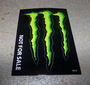 monster energy drink decal sticker 4 x 3 inches lot of 1. Black Bedroom Furniture Sets. Home Design Ideas