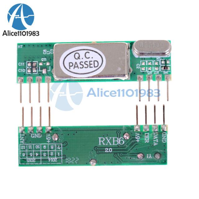 2PCS RXB6 433Mhz Superheterodyne Wireless Receiver Module for Arduino/ARM/AVR