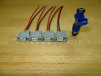 4x Acura RDX 410cc To Honda OBD2 Fuel Injector Wiring Harness Adapters