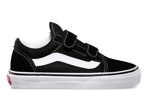 Vans Old Skool Velcro Kids Shoe / Black