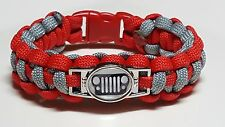 Jeep Life - Jeep Grill Logo; Custom Color to YOUR JEEP Paracord Bracelet