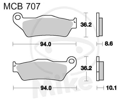 TRW Lucas Pastiglie mcb707sh POSTERIORE BMW K 1300 R CERCHIO 6,0