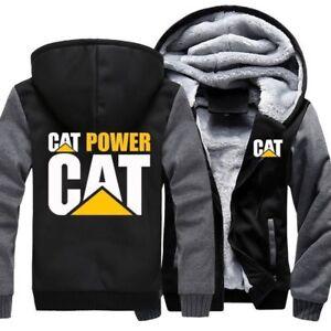 New-arrive-Caterpillar-Power-Warm-hoodie-Zipper-coat-Thicken-Sweatshirt-jacket