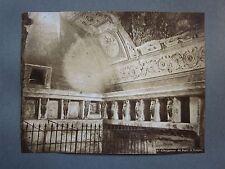 fine '800 POMPEI INTERNO DEI BAGNI foto originale albumina 19 x 25 cm