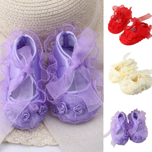 TODDLER INFANT NEWBORN BABY GIRL/'S PRINCESS NON-SLIP LACE FLOWER SHOES STRICT