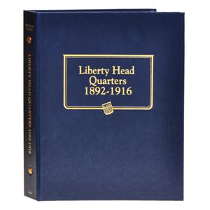 "/""WHITMAN CLASSIC/"" 9120 LIBERTY HEAD QUARTERS 1892-1916 ALBUM W// FREE SHIPPING!!!"