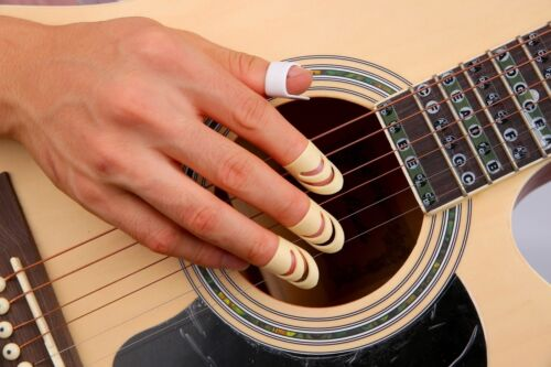1 of 1 - 1 Thumb + 3 Finger Nail Acoustic Electric Classical Guitar Picks Plectrum Set