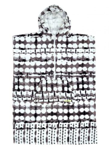 SALE Girls Hooded Surf Poncho Black Tie Die Print From Ocean & Earth RRP $65